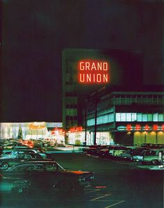 Pleasant Family Shopping. It's Christmastime 1966, and here's one more look at the Grand Union complex in East Paterson, New Jersey's Elmwood Shopping Center.