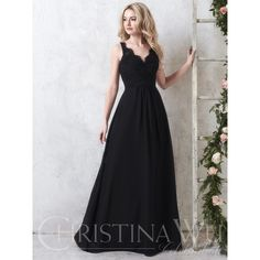 93dcc61af45 Christina Wu Celebrations 22745 Classy long chiffon gown with a gathered