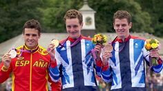 Brothers: Alistair and Jonny Brownlee dominate London 2012 triathlon. Thousands of hours slogging over hill and dale enable Olympic champion Alistair Brownlee and baby brother Jonny to dominate the London 2012 triathlon. August 7, 2012.  London, England.
