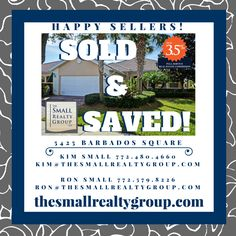 Another seller has SOLD & SAVED with The Small Realty Group LLC!  Now is the time to sell, the market is moving and inventory is low!  Call Ron & Kim today 772.480.4660, and find out how they can help you get your home sold and save you money!  thesmallrealtygroup.com  #soldandsaved #justsold #thesmallrealtygroup #VeroBeach #loveVero #VeroBeachrealestate #Florida #eastcoast #threepointfivepercentsolution #KimSmall #tsrg #Islesatwaterwayvillage Kim And Ron, Indian River County, Vero Beach Fl, Treasure Coast, Coastal Living, Small Groups, Work On Yourself, Florida, Real Estate