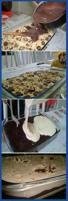 Mejor Postre que he comido en mi vida! #postre #mivida #dulces #trufas #bombones #chocolatecake #cakes #cheesecake #trucos #perfecto #pan #panfrances #panettone #panes #pantone #pan #recetas #recipe #casero #torta #tartas #pastel #nestlecocina #bizcocho #bizcochuelo #tasty #cocina #chocolate Si te gusta dinos HOLA y dale a Me Gusta MIREN... Vegan Dessert Recipes, Pastry Recipes, Easy Desserts, Delicious Deserts, Yummy Food, Gelato Recipe, Eating Light, Crazy Cakes, Cake Shop