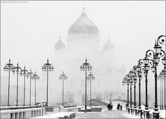 white on #white  #Moscow, #Russia