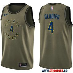 0cfa4f3f598 Men s Nike Pacers  4 Victor Oladipo Green Salute to Service NBA Swingman Jersey  Indiana Pacers