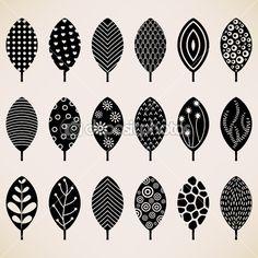 Leaf Pattern Wallpaper Texture Background Design — Imagen vectorial #7415395