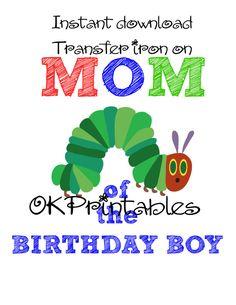 Caterpillar Iron On Tshirt shirt Transfer - Printable - MOM Birthday Boy -Instant Download- Digital- Birthday Caterpillar MOM by okprintables, €3.00 EUR