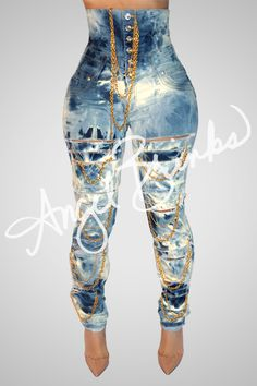 Gold Rush Corset Jeans | Shop Pre-Order on Angel Brinks
