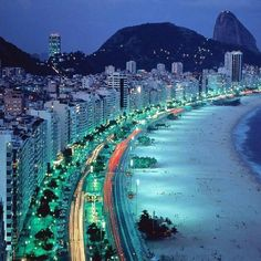 Copacabana Beach in Rio de Janeiro BraziI