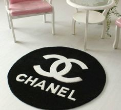 Black Base Cc Logo And White Letters Rugs Carpets China Mainland