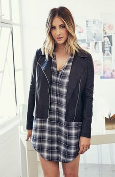 cupcakes and cashmere 'Union' Faux Leather Biker Jacket | Nordstrom