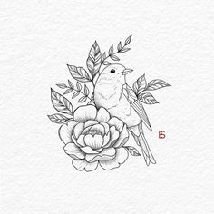 Pin By Valerie Gorham On Adult Coloring Black Bird Tattoo The Effective Pictures We Offer You About Tattoo ideen A … Bird Drawings, Drawing Sketches, Tattoo Drawings, Body Art Tattoos, Sketches Of Birds, Tattoo Illustrations, Drawing Birds, Dove Tattoos, Floral Drawing