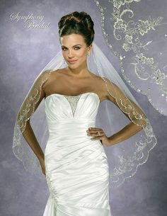 Fingertip with a Floral Design & A Scalloped Beaded Edge