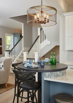 Raised Kitchen Island. Kitchen island with raised breakfast bar. What is really great about the bistro table is that it keeps the kitchen island clutter…