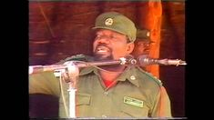 Dr.JONAS MALHEIRO SAVIMBI PRESIDENTE DA NAÇÃO , COMICIO NA JAMBA