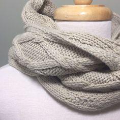 J Jill Infinity Scarf Pure Jill Cable Knit Soft Natural Tan Chunky Beige #PureJillbyJJill #Scarf