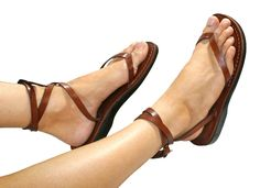 Brown Ankle-Strap Leather Sandals for Men & Women por SANDALI
