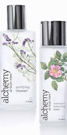 Alchemy Skin care range packaging design