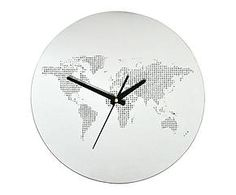 Horloge EARTH verre, transparent - Ø35