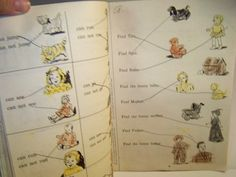 Think and Do book, Dick and Jane Workbook, Vintage notebook 1950s/1960s