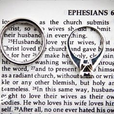 """Husbands, love your wives just as Christ loved the church and gave Himself for her."" Men, that's a huge task. Are you up for it?"