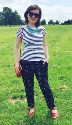 Tilly's polka dot Marigold trousers - sewing pattern from Tilly and the Buttons