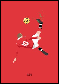 ルーニー バイシクル キック! Illustration of Rooney's overhead kick v City