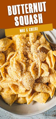 This pasta dish is full of fall flavor with rustic butternut squash and a hint of nutmeg sweetness. Butternut Squash Mac and Cheese is a creamy and cheesy pasta with a little fall infused. #ButternutSquashMac&Cheese #ButternutSquashRecipes #ButternutSquashPasta #MacAndCheese Pasta Dinner Recipes, Yummy Pasta Recipes, Yummy Food, Delicious Recipes, Vegetarian Recipes, Healthy Side Dishes, Side Dish Recipes, Butternut Squash Mac And Cheese, Roasted Vegetable Recipes