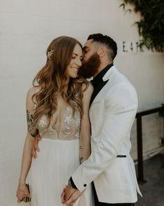 @VeilOfGrace posted to Instagram: Just for life.  VEIL OF GRACE BRIDAL BEAUTY TEAM Bridal Airbrush Makeup: #VOGSarah Bridal Hairstyling: @veilofgrace.bridal  WEDDING VENDORS Photography: @sophie_lindler Coordination: @sugarlynevents Venue: Millwick, Los Angeles, CA Boho Wedding Hair Half Up, Boho Wedding Makeup, Boho Makeup, Wedding Hair Flowers, Flowers In Hair, Wedding Dresses, Boho Updo, Bohemian Hairstyles, Bride Hairstyles