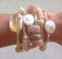 Pretty wire bracelets