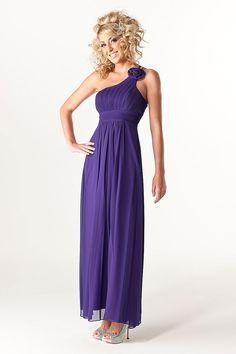 GOE1156  - Long Grecian Bridesmaid Dresses - Purple. Love the style
