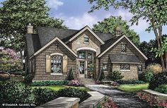 Cottage Style 1 story 3 bedrooms(s) House Plan with 1898 total square feet and 2 Full Bathroom(s) from Dream Home Source House Plans Cottage Floor Plans, Cottage House Plans, Country House Plans, Dream House Plans, Cottage Homes, House Floor Plans, Cottage Style, Cottage Ideas, Country Living