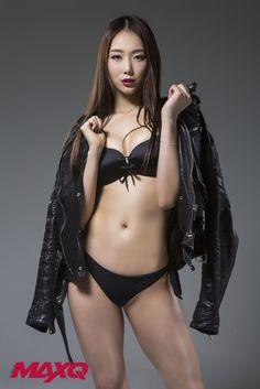 와사비콘텐츠 :: 머슬퀸 손소희 머슬앤맥스큐 2월호 표지 모델 비키니컷