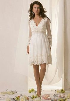 casual wedding dresses for second marriages | Casual wedding dress