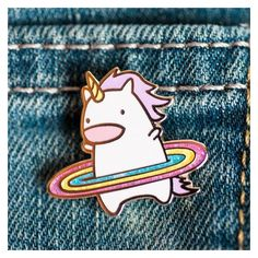 Hula unicorn enamel pin cute enamel pin, unicorn accessories, rainbow... ❤ liked on Polyvore featuring jewelry, brooches, enamel jewelry, glitter jewelry, pin brooch, polish jewelry and enamel brooches