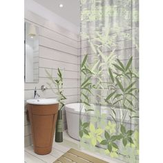 Dainty Home Green Oasis 13 Pieces Shower Curtain Set ($32) ❤ liked on Polyvore featuring home, bed & bath, bath, shower curtains, green, contemporary shower curtains and green shower curtains