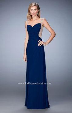 Beaded Net Gown by La Femme 22691