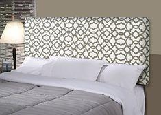 MJL Furniture Designs Alice Padded Bedroom Headboard Contemporary Styled Bedroom Décor, Sheffield Series Headboard, Summerland Gray Finish, Full Sized, USA Made