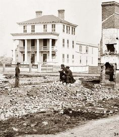 The O'Connor House in Charleston, SC at the end of the Civil War. The realities of war sometimes get lost in the black-and-whiteness of these pictures.