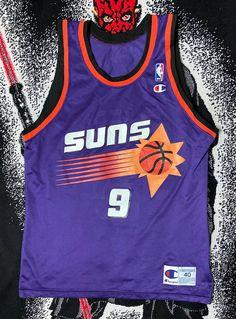 Vintage Vintage 90's Phoenix Suns Dan Majerle Nba Jersey Champion | Grailed Vintage Basketball Jerseys, Phoenix Suns, Vintage Tops, Nba, Champion, Mens Tops, Shopping, Fashion, Moda