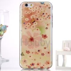 Diamond Blue- Ray IMD Soft TPU Back Case for iPhone 6S / 6 - Nice Flowers