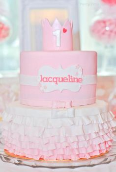 Daddy's little princess pink ballerina ballet birthday party via Kara's Party Ideas _ KarasPartyIdeas.com-2_600x894