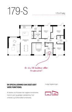 179 kvm special-hus med 3 soveværelser og to badeværelser