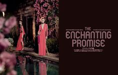 THE ENCHANTING PROMISE ドラマティックな予感。 PHOTOGRAPHED BY MARK SEGAL STYLED BY GIOVANNA BATTAGLIA