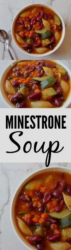 Homemade Minestrone Soup Recipe (Low-Sodium, Vegan, GF)