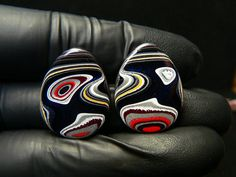 Large Pair of Genuine 1980's Fordite by ForditeFanaticsUK on Etsy, £22.00