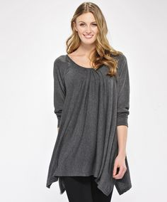 Viscose Tunic with Gathered Neckline by Charlie Paige