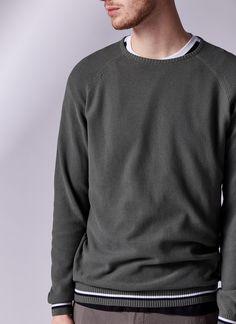 Jersey en algodón textura lavado
