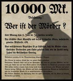 """Wer ist der Mörder ? Wo is the murderer ? Besd on """"M"""" (1931, Fritz Lang) © Philippe Desfretier 2012"""