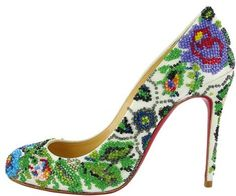 The Louboutin Sissi Pump.. it's really a must for your wedding day! They're so perfect.