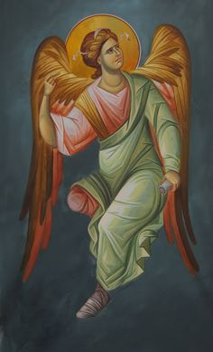 """Αγγελος__ του Κυριου        ( Whispers of an Immortalist: Icons of the Holy Angels 1""""The Angel of the Lord"""
