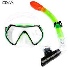 OXA Nuevo Profesional Antivaho Scuba Máscara de Buceo Snorkel Gafas Set de Silicona Bajo El Agua Natación Equipo de La Piscina de Pesca